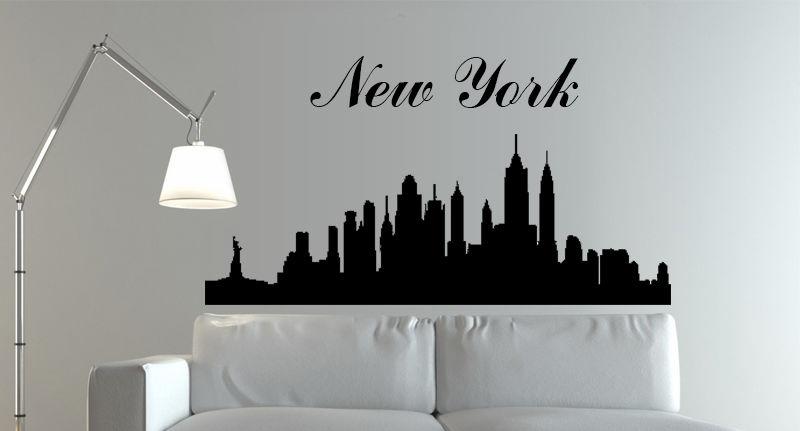 D0100 New York Skyline,Vinyl Wall Art Sticker Decal Home Mural(China (Mainland))