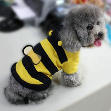 Buy Dog Cat Pet Cute Fleece Bumble Bee Lovely Wings Costume Apparel Clothes Coat AA for $1.50 in AliExpress store