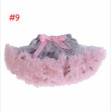 Retail 1 set 20 Colors fluffy Pettiskirt baby tutu skirt Newborn Photo Props Pettiskirt Girls Petticoat suitable for 3- 24M age(China (Mainland))