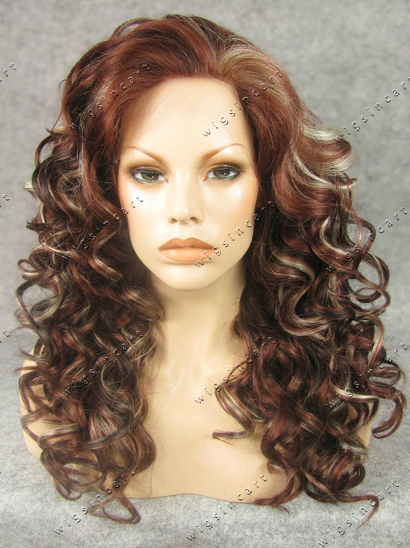 Curly Blonde Hair With Red Highlights Industrifo