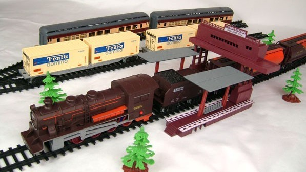 Train Toys For Boys : Free shipping long steam train meters track