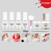 ROSALIND Dipping Powder Glitter Natural Dry Chrome Pigment No Need Lamp Cure Nail Art Dust Holographic Powder Set For Manicure(China)