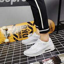 2019 çiftler spor ayakkabı hava yastığı kadın erkek koşu ayakkabıları rahat eğitmenler koşu için dantel Up koşu ayakkabıları ucuz(China)
