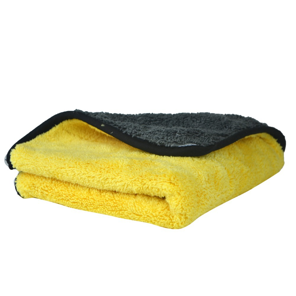 1 pc 800gsm 45cmx38cm Super Thick Plush Microfiber Car Cleaning Cloths Car Care Microfibre Wax Polishing