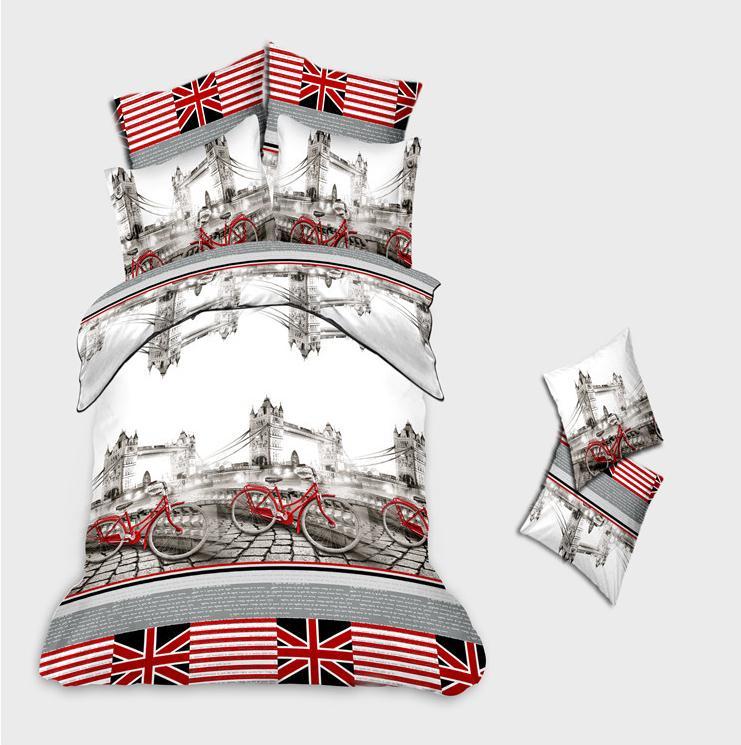 Acheter 3d ensembles de literie impression londres literie dr - Taille lit queen size ...
