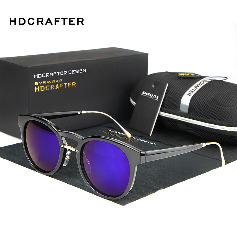 HDCRAFTER Sunglasses Women Round Retro Polaroid Lens Plastic Frame Driver Sunglasses Brand Design Original Box Women Oculos(China (Mainland))