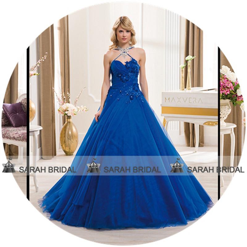 Blue Wedding Dress Colors : Royal blue wedding dress promotion for promotional