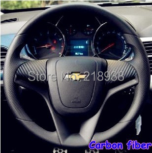 New Car steering wheel car carbon fiber sticker protection decoration special for cruze Aveo  N-161(China (Mainland))