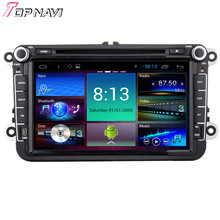 "8"" Quad Core Android 4.4.4 Car Dvd GPS For VW Universal With 16GB Flash Mirror Link Stereo Audio Video Radio Map Free Shipping"