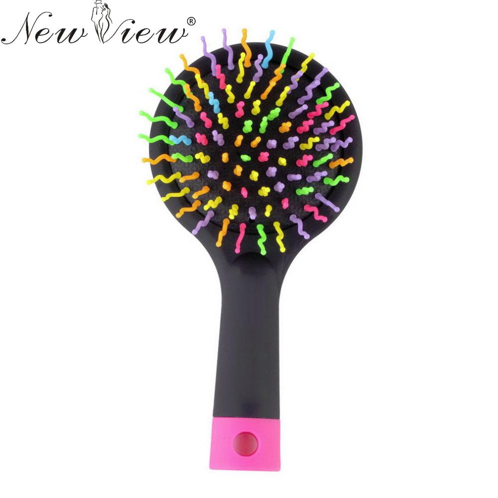 Magic Hair Comb Brush Rainbow Volume Styling Tools Anti