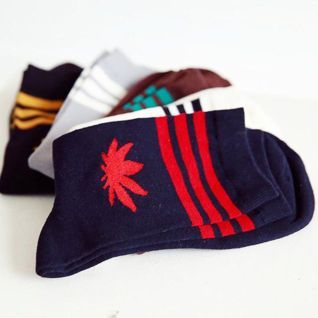 Хип-хоп мужской сорняков носки зима Harajuku кленовый лист с носка дешевой Thress полосатый чистого хлопка носки для мужчин