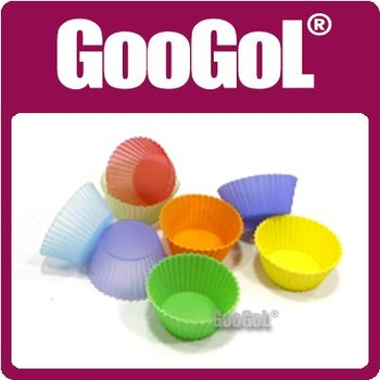 50pcs/LOT Silicone 5cm Round Cup Mini Cake Mould Mold Cupcake Baking Cups Muffin Cup Pan Bakeware High Quality