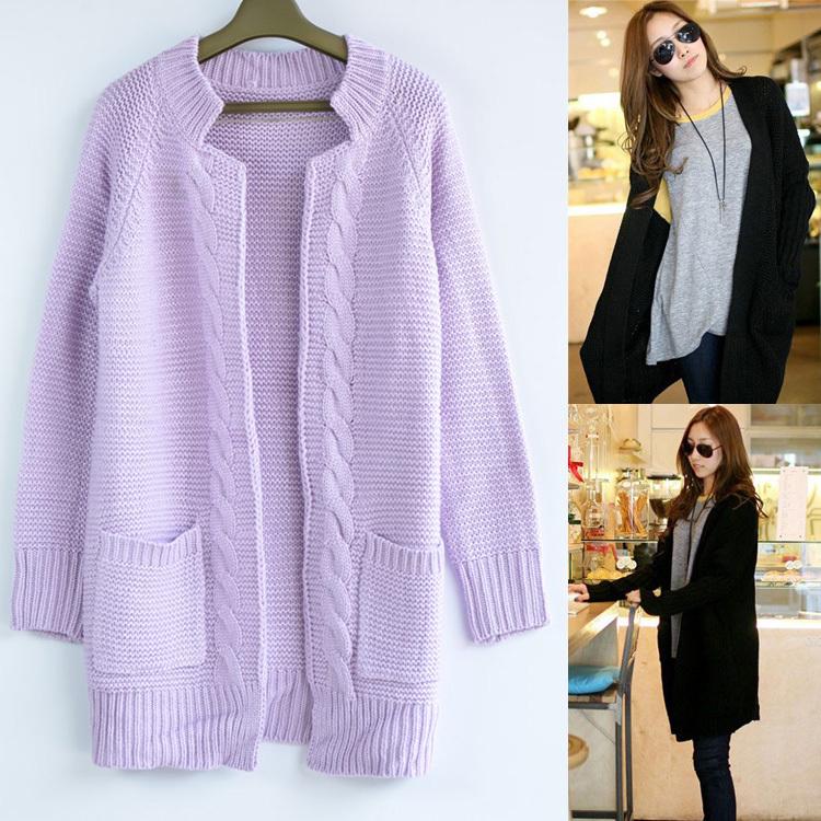 2013 autumn winter women fashioon long sleeve medium-long cardigan sweater korean design cable knitted coat outwear - Jazz Still Clothing Ltd, store