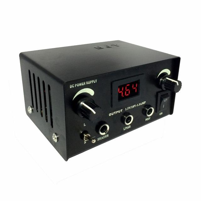 New High duty Digital DUAL Tattoo Power Supply Black LEDTattoo ink Power Supply box machine gun liner shader plug