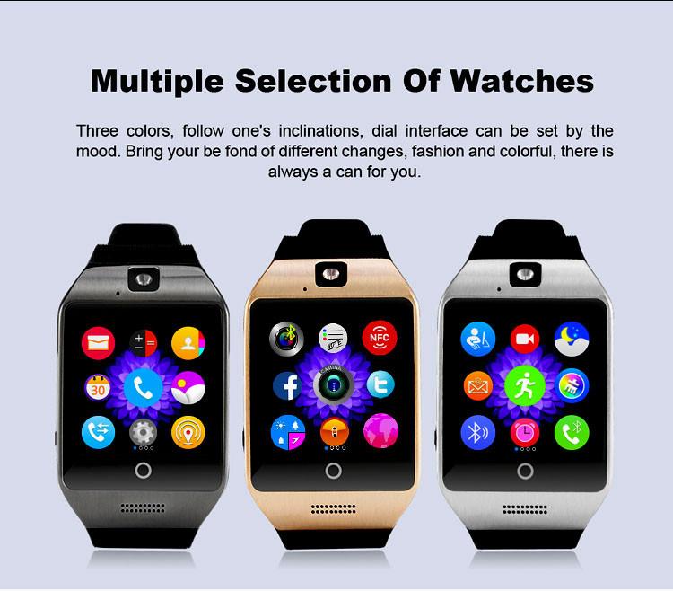 ถูก 2016ใหม่บลูทูธsmart watch apro q18sสนับสนุนnfcซิมแกรมกล้องวิดีโอสนับสนุนA Ndroid/IOSโทรศัพท์มือถือpk GT08 GV18 U8