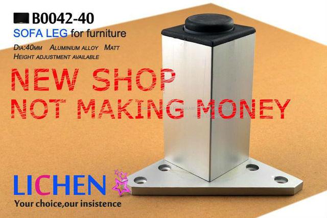(4 pieces/lot) 40*150mm LICHEN Aluminum Legs&Furniture Cabinet Legs&square Sofa Legs