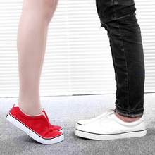 slipony shoes footwear 2016 women summer fashion lovers canvas slip-on cotton-made male casual shoes