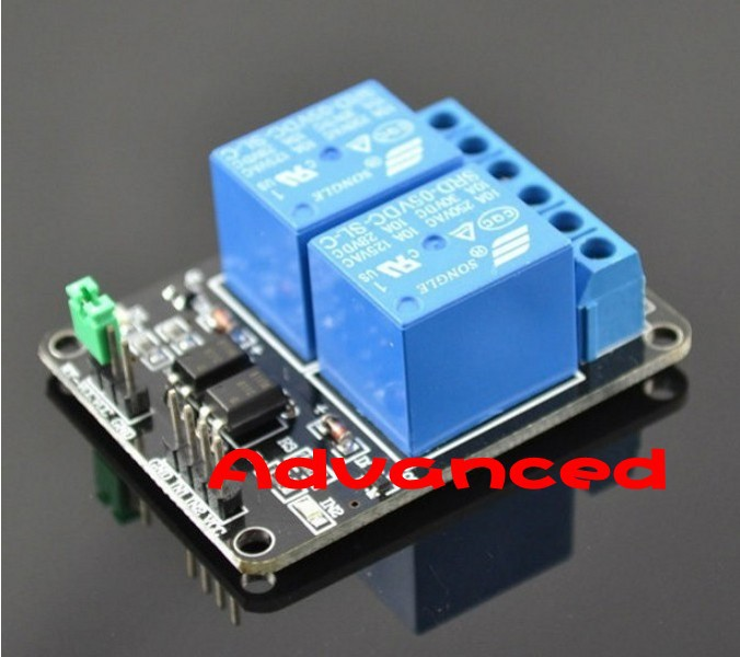 5pcs/lot 2-channel New 2 channel relay module relay expansion board 5V low level triggered 2-way relay module for arduino(China (Mainland))