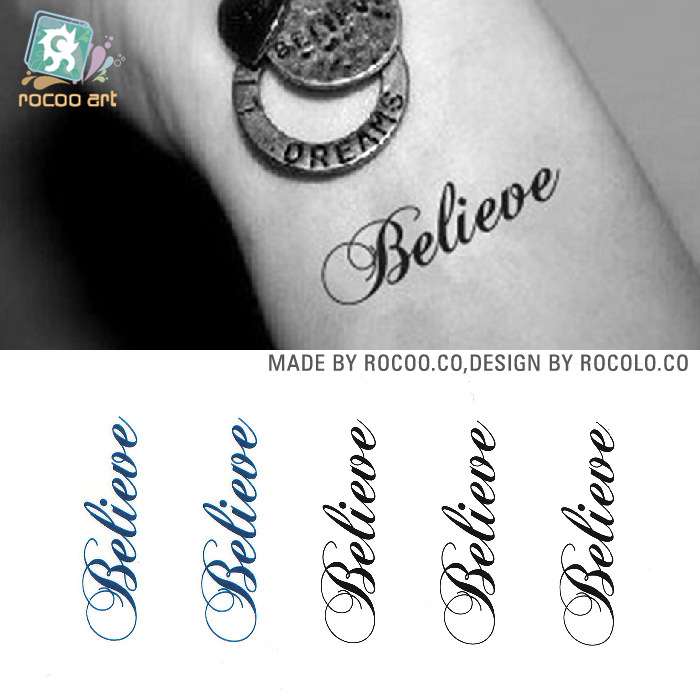 Customized tattoo stickers waterproof disposable clean for Wash off temporary tattoos