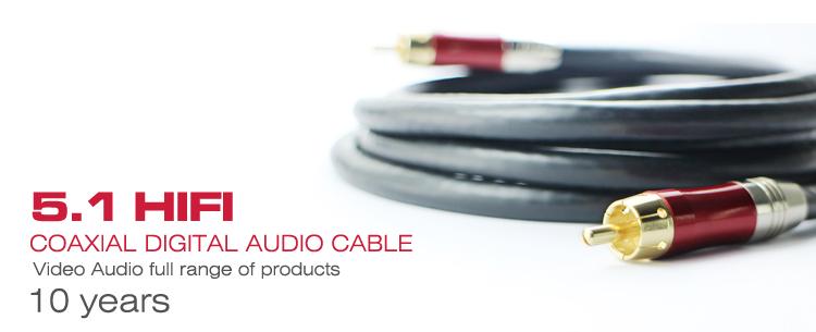 Diap 3 m spdif s pdif cable de audio digital coaxial de for Amplificador tv cable coaxial