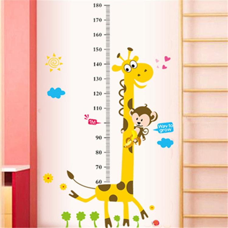 Kids Height Chart Wall Sticker home Decor Cartoon Giraffe Height Ruler Home Decoration room Decals Wall