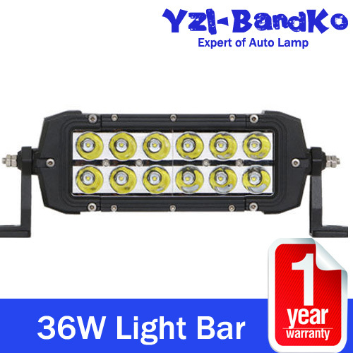 36W CREE LED CAR WORK LIGHT BAR 9-32V DC SPOT BEAM DRIVING OFFROAD SUV TRUCK LED Spot Beam Work Light Fog Lamp Truck SUV Boat(China (Mainland))