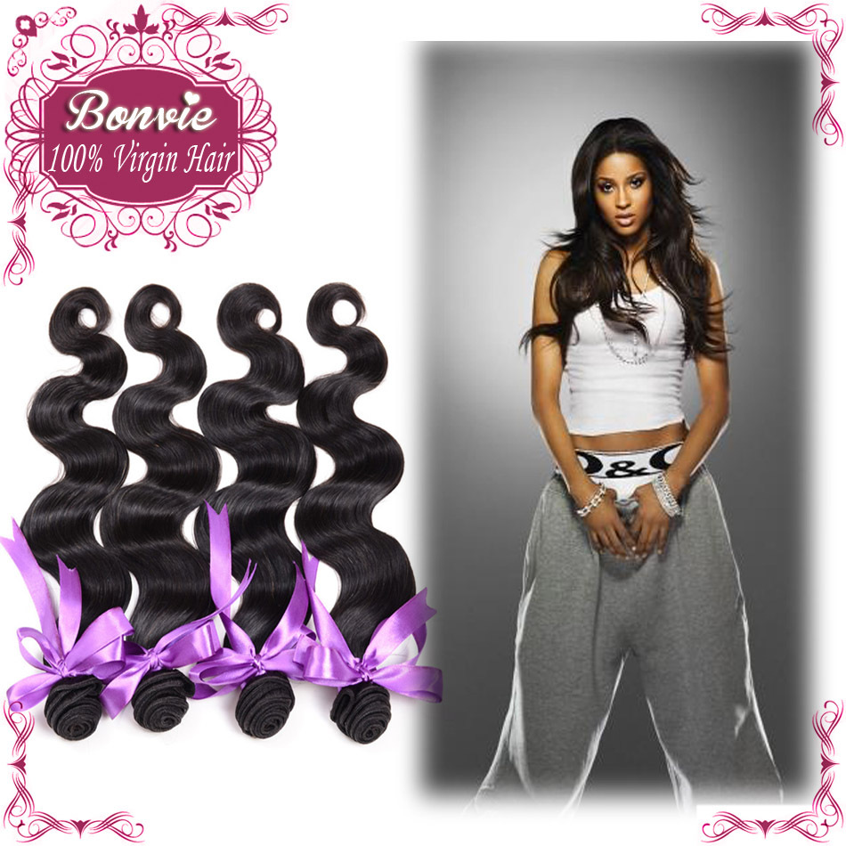 Bonvie hair products brazilian body wave 6A brazilian virgin hair extension 47% off cheap human hair weave Free shipping(China (Mainland))
