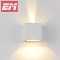 IP65 Waterproof Outdoor Wall Lamp 100 100 100mm White ABS Up Down Light Outdoor Lighting Bathroom