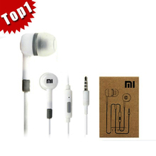1pcs/lot Original xiaomi m2s 1s earpieces with remote control mic in ear earphones retail to the telephone + Retail Box