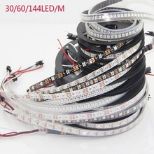 Buy 1m/4m/5m WS2812B Smart led pixel strip,Black/White PCB,30/60/144 leds/m WS2812 IC;WS2812B/M 30/60/144 pixels,IP30/IP65/IP67 DC5V for $4.13 in AliExpress store