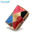 Foreign Trade New Genuine Leather Women Wallets Alligator Grain Vertical Hasp Ma am Coins Card Holder