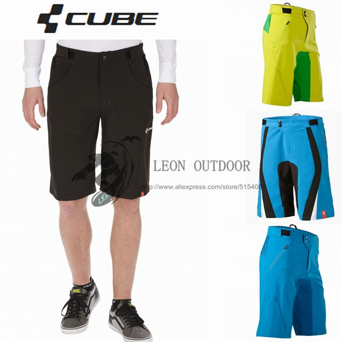 2015 New Cube Ciclismo Cycling Shorts 4 Colors MTB DOWNHILL Motorcross Teamline Men's Sports Bike Riding,Short Bicycle Trouser(China (Mainland))