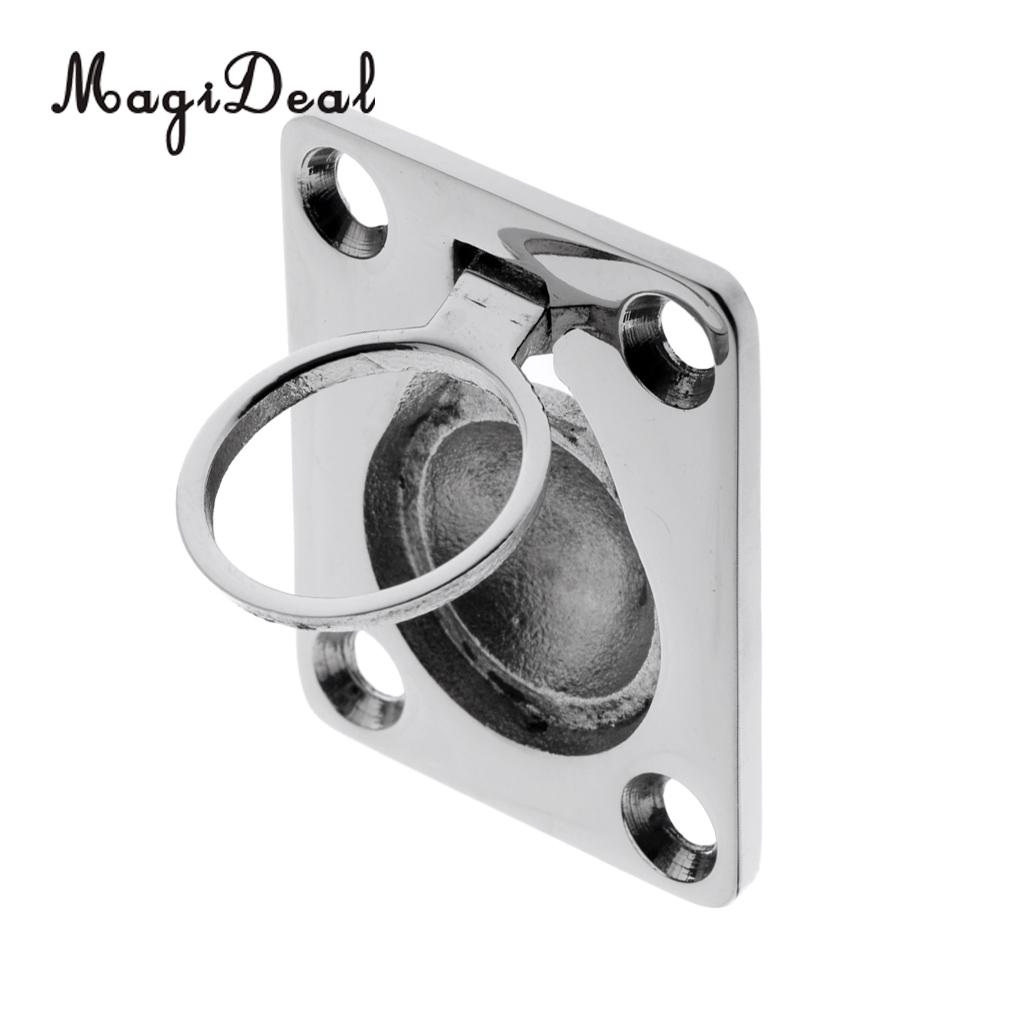 MagiDeal Heavy Duty 316 Stainless Steel Flush Pull Lift Ring Handle Replacement for Marine Boat Hatch Locker Truck Application