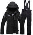 Black Green Blue Cheap Men Woman Unsex Ski snowboard Pure color Clothing skiing suit set outdoor