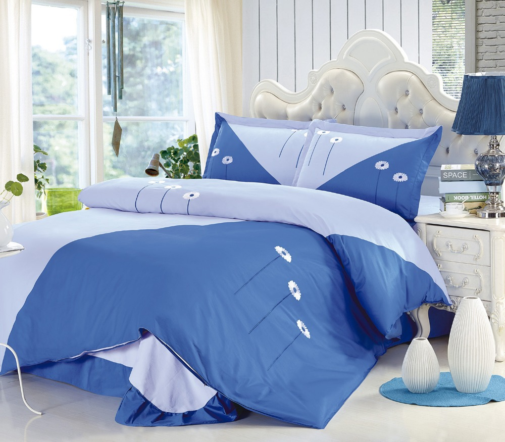 Special offer 2015 New 100% cotton Home Textile Four seasons Four-Piece Sheets + Quilt cover +Two Pillowcase Embroidered JF008(China (Mainland))