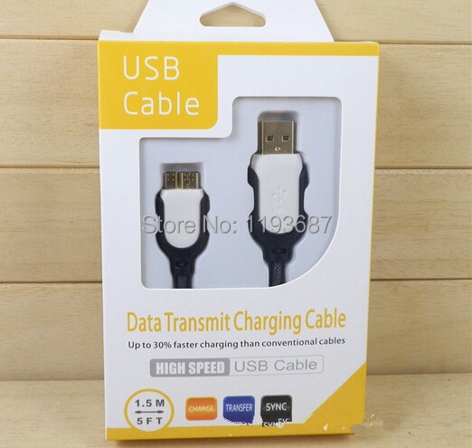 50sets new 1.5 M Charger cable USB DATA CABLES polyamides cell phone cables Micro for samsung s5 note3 free shipping(China (Mainland))