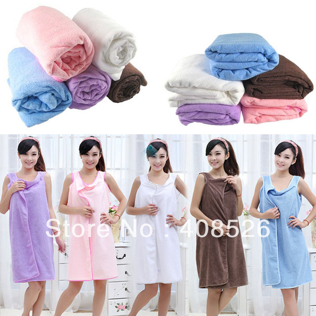 154 x 83cm Unisex Microfiber towels soft Magic bath towel bathrobes bath skirt beach 5colors dropshipping 16117