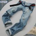 Summer Style Mens Jeans Pants Brand Ripped Men Jeans Slim fit Straight Hole Trousers Skinny pantalones