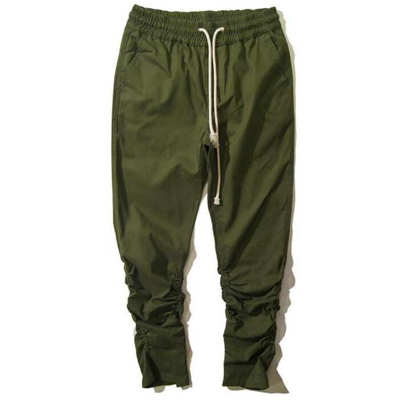 Brand Designer Mens Drop Crotch Sweatpants Ankle Zipper Drawstring Man Hip Hop Harem Pants Elastic Cuff Joggers Men Pantalones(China (Mainland))