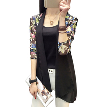Long Chiffon Ladies Shirts 2016 Summer Women's Kimono Cardigan Blusa Air Conditioning Sunscreen Female Blouses Jackets