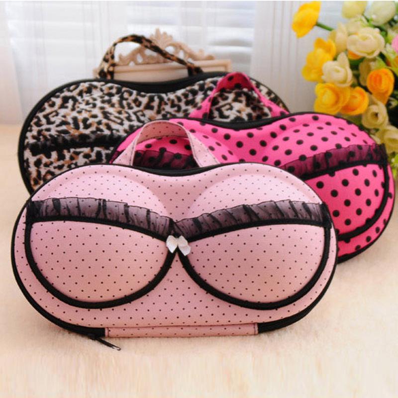 2016 Fashion Women Bra Storage Case Protect Underwear Lingerie Travel Bag Box Portable Storage Box(China (Mainland))