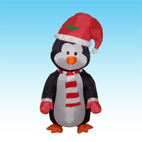 2015 Factory price 1.2M LED lighted Inflatable Lovely Christmas Penguin christmas Penguin lighted Witch Bar KTV Store decor(China (Mainland))