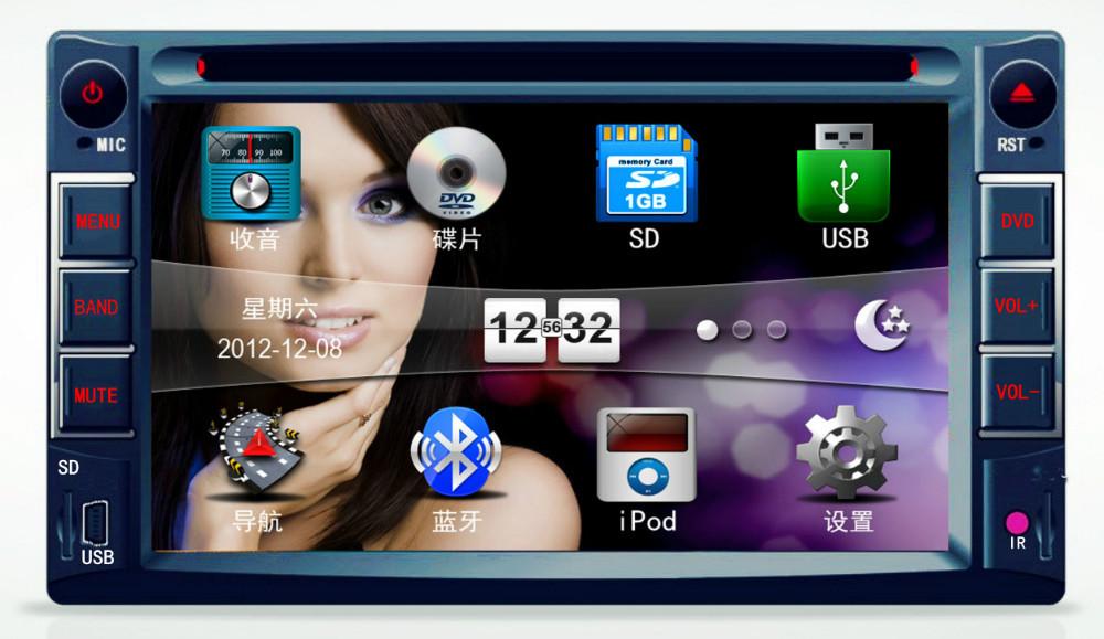 Автомобиль DVD / компакт-диск / mp3/mp4-плеер 2 DIN автомобиль стерео радио автомобиль USB / SD Universal дистанционного