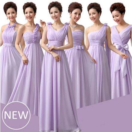 light purple bridesmade lavender braidsmaid dresses lilac chiffon dress women party gowns custom made side B1511 - I And You Story store