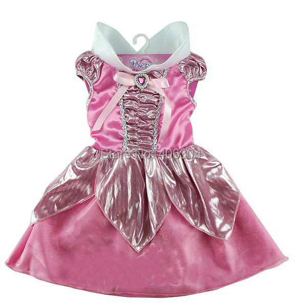 ,movie girls pink Sleeping Beauty Aurora princess dress Cosplay party costume kid - HH Party Costume Store store