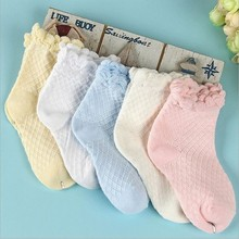 Free Shipping Spring Summer Girls Princess Lace Mesh Cotton Socks For Kids Socks 2015 New Brand Children Ankle Socks 1lot=5pairs(China (Mainland))