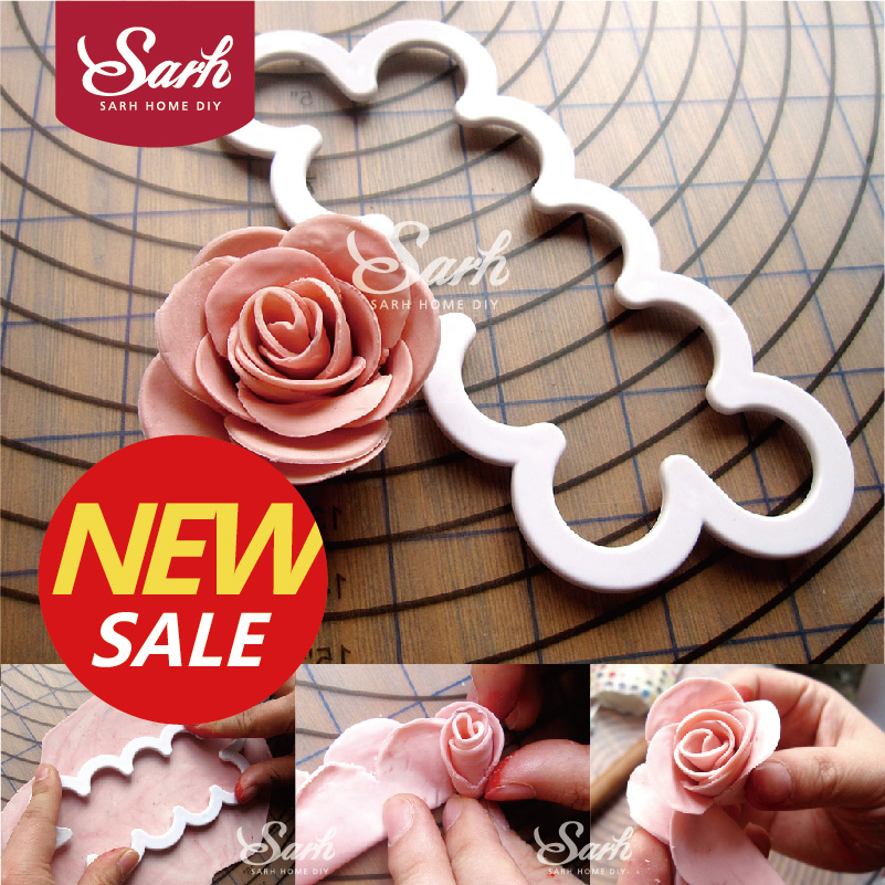 SLH494 petal roses flower Fondant Cutter Decorating Sugarcraft Gum Paste Tools Cupcake Kitchen Cookie accessories(China (Mainland))