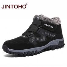 JINTOHO 2019 Warme Winter Sneeuw Schoenen Mode Mannen Winter Laarzen Merk Rubber Enkellaarsjes Voor Mannen Toevallige Snowboots Mannen booties(China)