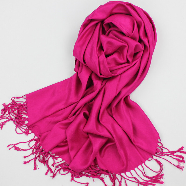 Plain spring and autumn women's all-match tassel long scarf pashmina oversized  air conditioning cape dual solid color stripe