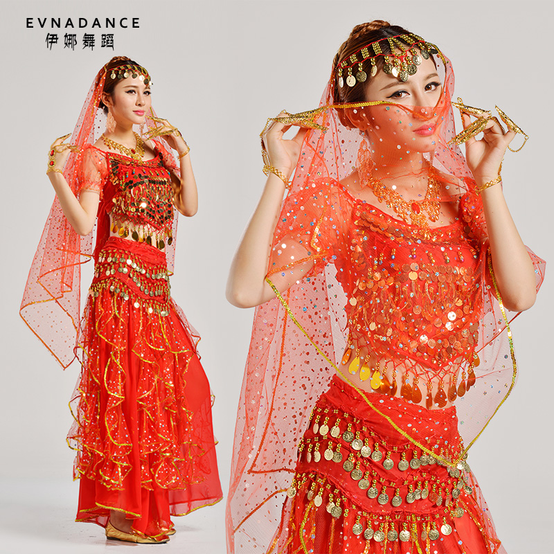2016 New Lady India Dance Costume Belly Dance Suite Dancing Practice Costume Bollywood Indian Belly Dancing Dress B-2223(China (Mainland))